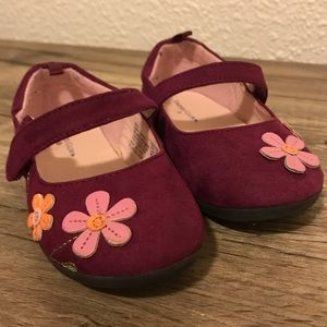 Faded Glory Toddler Faux Suede Burgundy Flats